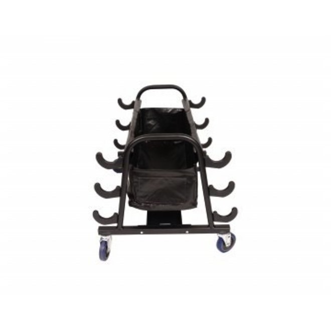 Volleyball Pole Storage Cart (Holds 6 Poles)