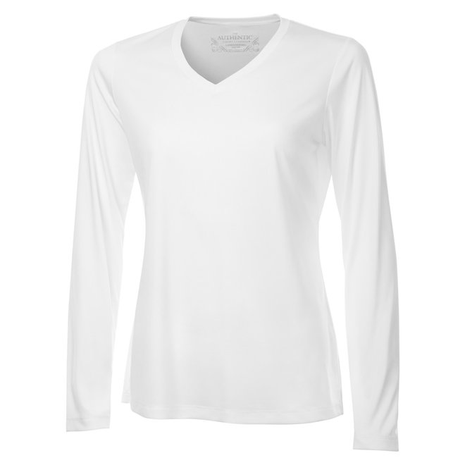 Pro Team Long Sleeve Tee, V-Neck - Ladies Sizes