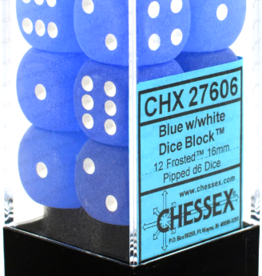 Chessex Chessex (27606): D6: 16mm: Frosted: Blue/White