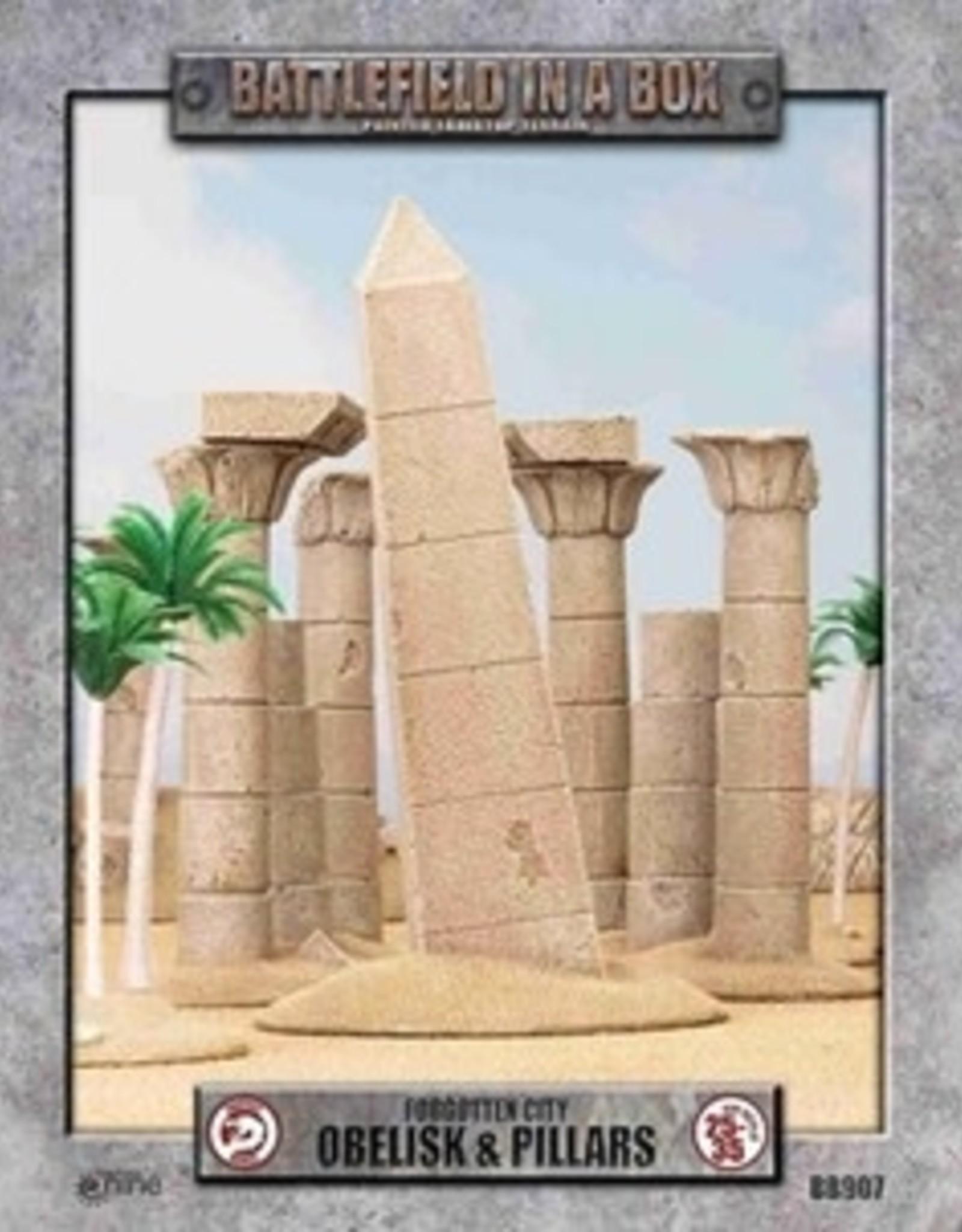 Battlefield in a Box Battlefield in a Box: Forgotten City- Obelisk & Pillars