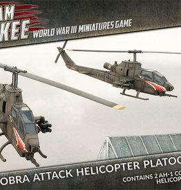 Battlefront Miniatures Team Yankee American: AH-1 Cobra Attack Helicopter Platoon (Plastic)