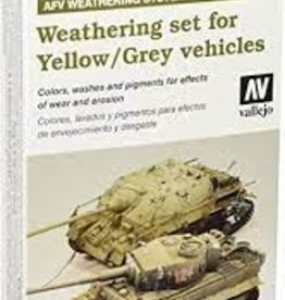 Vallejo Vallejo AFV Painting System: Weathering set for Yellow/Grey Vehicles