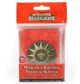 Warhammer Underworlds: Morgok's Krushas Premium Sleeves