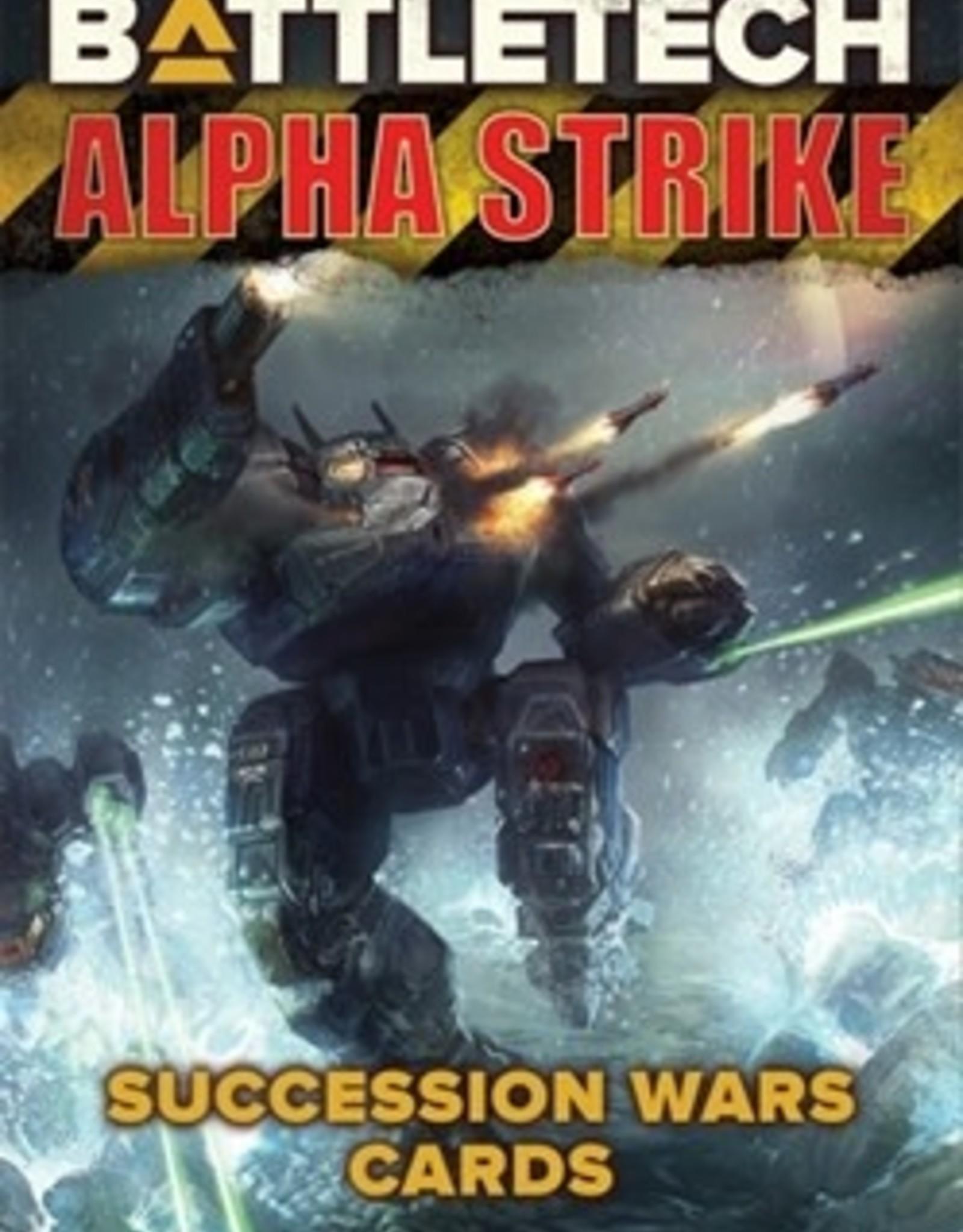 Catalyst Game Labs BattleTech: Alpha Strike Succession Wars Cards