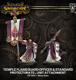 Warmachine: Menoth: Temple Flameguard Officer & Standard