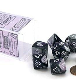 Chessex: Polyhedral 7-Die Set: Gemini: Purple Steel/White