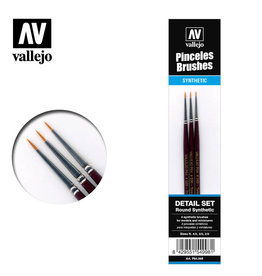Vallejo Vallejo: Brushes- Synthetic Toray Detail Set