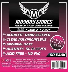 Mayday: Red Label: Premium Card Sleeves 70mmx70mm (50)