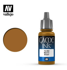 Vallejo Game Colors - 092 Brown Ink