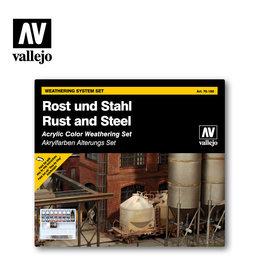 Vallejo Vallejo Weathering System Set: Rust & Steel