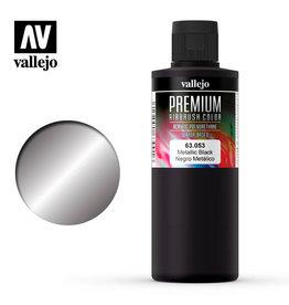 Vallejo Vallejo Premium Color: Metallic Black (60ml)
