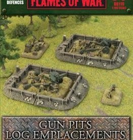 Gale Force Nine Flames of War: Defences: Gun Pits Log Emplacements