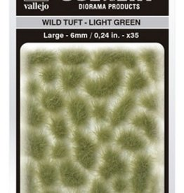 Vallejo Vallejo Scenery Diorama Products: WILD TUFT- LIGHT GREEN (Large 6mm)