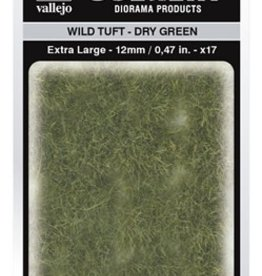 Vallejo Vallejo Scenery Diorama Products: WILD TUFT- DRY GREEN (Extra Large 12mm)