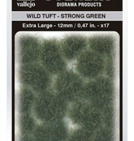 Vallejo Vallejo Scenery Diorama Products: WILD TUFT- STRONG GREEN (Extra Large 12mm)