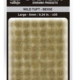 Vallejo Vallejo Scenery Diorama Products: WILD TUFT- BEIGE (Large 6mm)