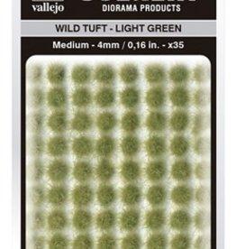 Vallejo Vallejo Scenery Diorama Products: WILD TUFT- LIGHT GREEN (Medium 4mm)