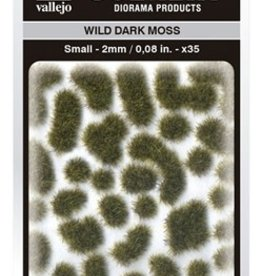 Vallejo Vallejo Scenery Diorama Products: WILD DARK MOSS (Small 2mm)