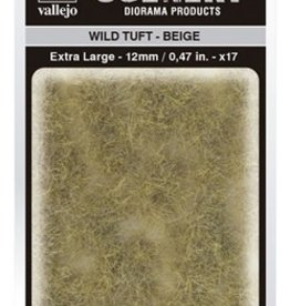 Vallejo Vallejo Scenery Diorama Products: WILD TUFT- BEIGE (Extra Large 12mm)