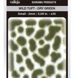 Vallejo Vallejo Scenery Diorama Products: WILD TUFT- DRY GREEN (Small 2mm)