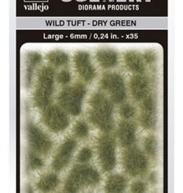 Vallejo Vallejo Scenery Diorama Products: WILD TUFT- DRY GREEN (Large 6mm)