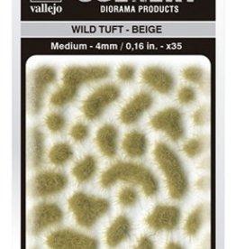 Vallejo Vallejo Scenery Diorama Products: WILD TUFT- BEIGE (Medium 4mm)