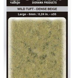 Vallejo Vallejo Scenery Diorama Products: WILD TUFT- DENSE BEIGE (Large 6mm)