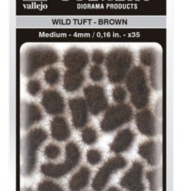 Vallejo Vallejo Scenery Diorama Products: WILD TUFT- BROWN (Medium 4mm)