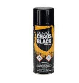 Games Workshop Citadel Paints: Chaos Black Spray