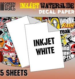 Green Stuff World Green Stuff World: Inkjet Waterslide Decal Paper - White