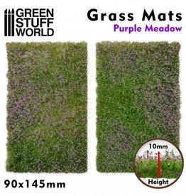 Green Stuff World Green Stuff World: Grass Mats Cut-Out - Purple Meadow 10mm