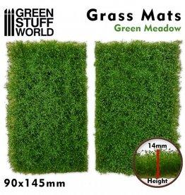 Green Stuff World Green Stuff World: Grass Mats Cut-Out - Green Meadow 14mm