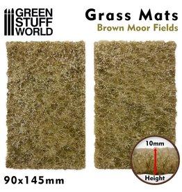 Green Stuff World Green Stuff World: Grass Mats Cut-Out - Brown Moor Fields 10mm