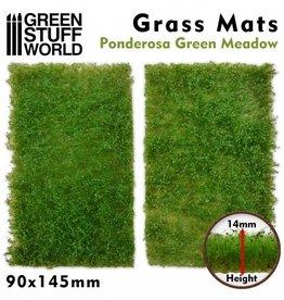 Green Stuff World Green Stuff World: Grass Mats Cut-Out - Ponderosa Green Meadow 14mm