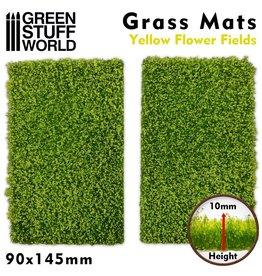 Green Stuff World Green Stuff World: Grass Mats Cut-Out - Yellow Flower Fields 10mm