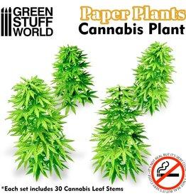 Green Stuff World Green Stuff World: Paper Plants - Cannabis Plant