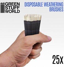 Green Stuff World Green Stuff World: Disposable Weathering Brushes (25 pkg)