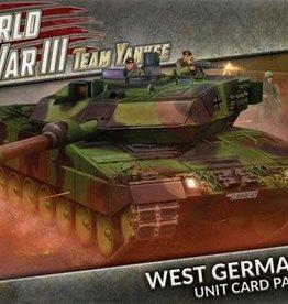 Battlefront Miniatures Team Yankee: World War III West German Unit Cards