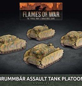 Battlefront Miniatures Flames of War: German: Brummbar Assault Tank Platoon (x4) (New)