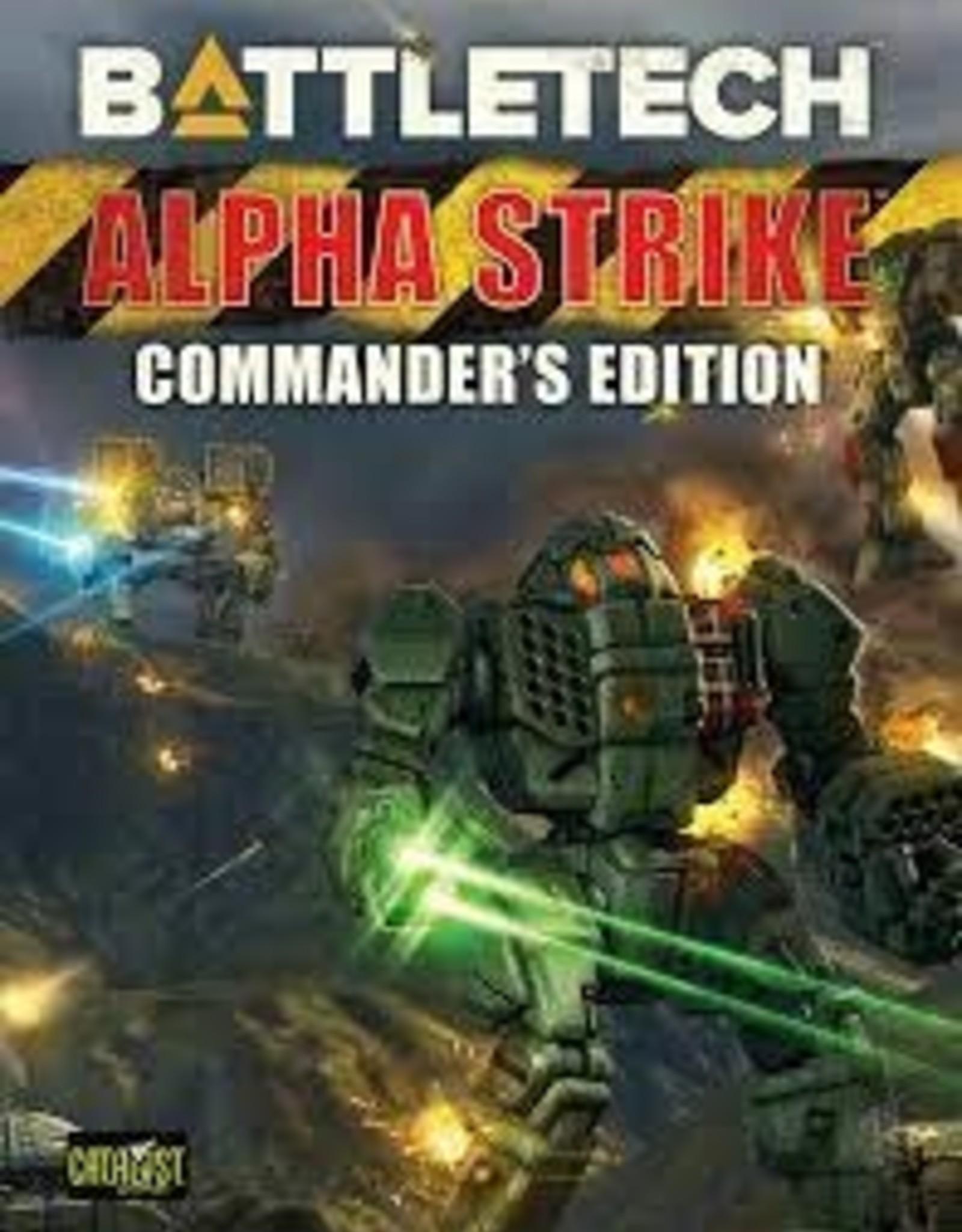 Catalyst Game Labs Battletech: Alpha Strike Commanders Edition (HC) (New)