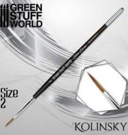 Green Stuff World Green Stuff World: Silver Series Kolinsky Brush - Size 2