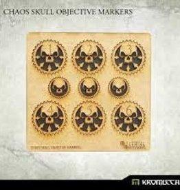 Kromlech Kromlech Accessories: HDF Chaos Skull Objective Markers