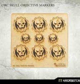 Kromlech Kromlech Accessories: HDF Orc Skull Objective Markers