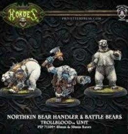 Privateer Press Hordes: Trollbloods: Northkin Bear Handler & Battle Bears