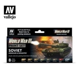 Battlefront Miniatures Vallejo Model Colors Set- 70221 - Soviet Armour & Infantry (New)