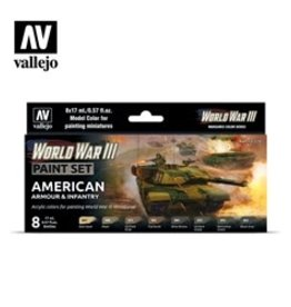 Battlefront Miniatures Vallejo Model Colors Set- 70220 - American Armour & Infantry