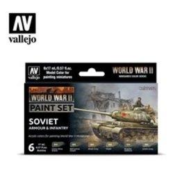 Battlefront Miniatures Vallejo Model Colors Set- 70202 - Soviet Armour & Infantry Set (New)
