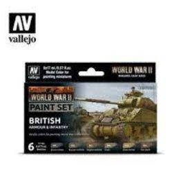 Battlefront Miniatures Vallejo Model Colors Set- 70204 - Wargame British