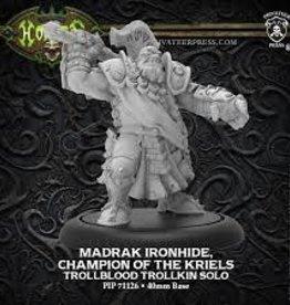 Hordes: Madrak Ironhide, Champion of the Kriels - Trollblood Trollkin Solo (New)