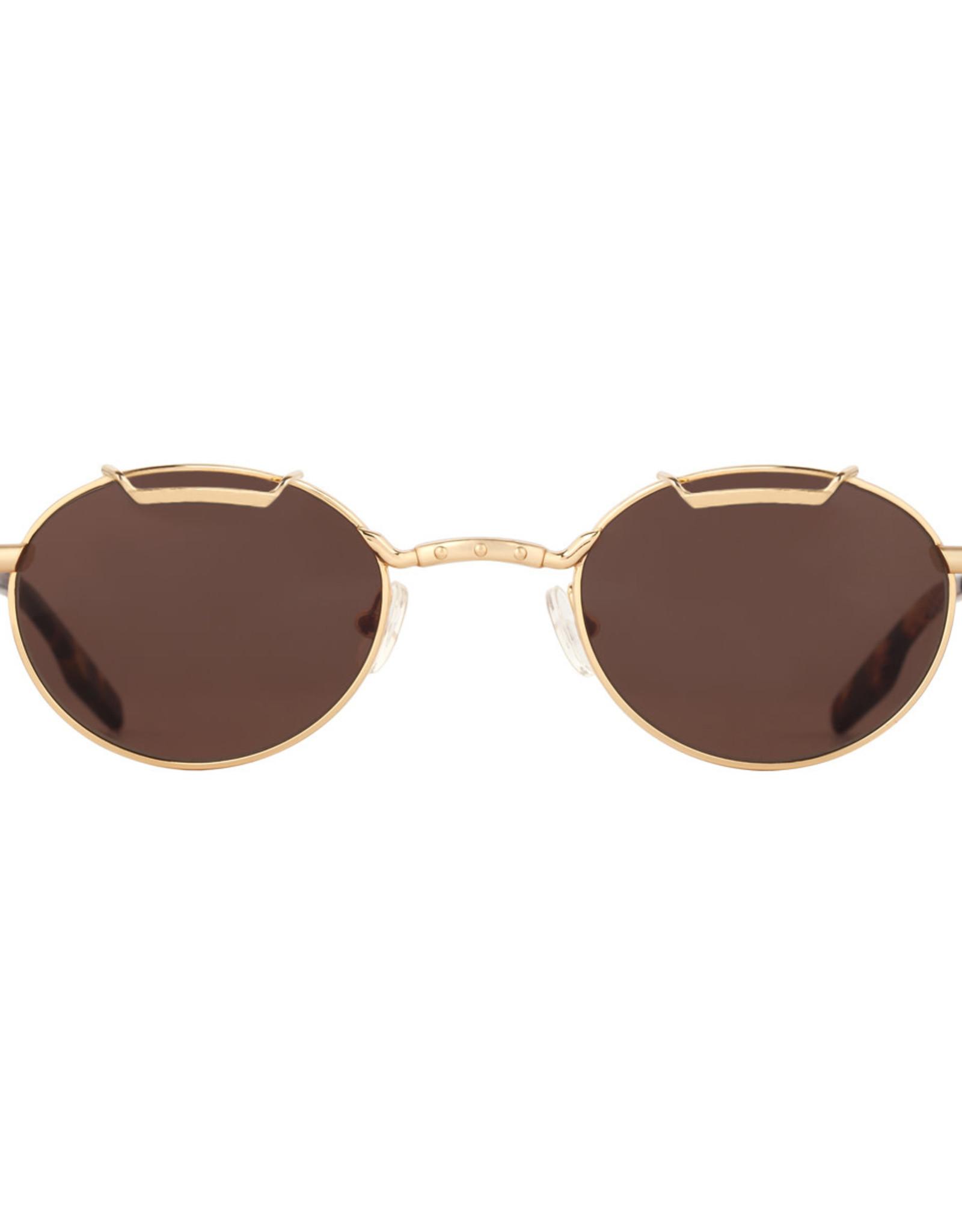 Amber Sceats Joey Sunglasses Gold/Brown